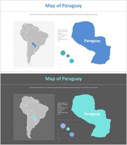 파라과이의 지도 다이어그램_2 slides