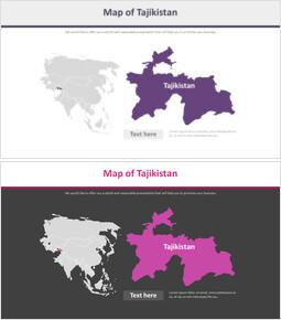 타지키스탄의 지도 다이어그램_2 slides
