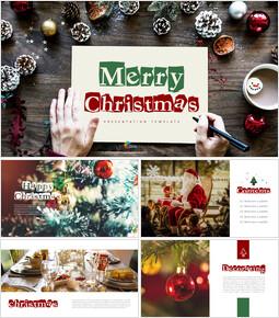 메리 크리스마스 편집이 쉬운 프레젠테이션 템플릿_00