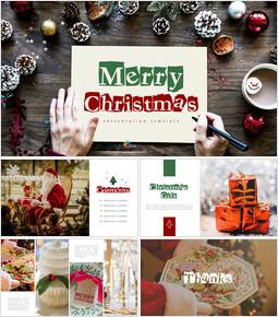 메리 크리스마스 편집이 쉬운 슬라이드 디자인_00