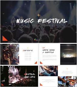 음악 축제 편집이 쉬운 프레젠테이션 템플릿_00