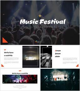 음악 축제 심플한 프레젠테이션 Google 슬라이드 템플릿_00