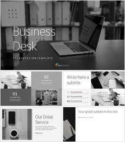 업무용 책상 심플한 프레젠테이션 Google 슬라이드 템플릿_00