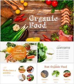 유기농 식품 심플한 파워포인트 템플릿 디자인_00