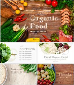 유기농 식품 심플한 슬라이드 디자인_00