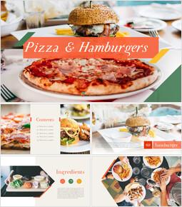 피자 & 햄버거 편집이 쉬운 PPT 템플릿_00