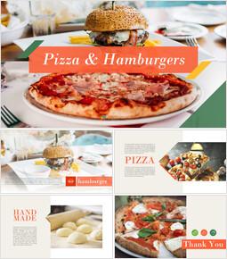 피자 & 햄버거 편집이 쉬운 슬라이드 디자인_00