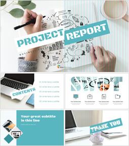 프로젝트 보고서 편집이 쉬운 구글 슬라이드 템플릿_00