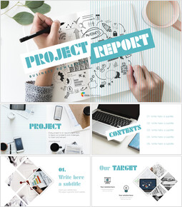 Project Report Simple PowerPoint Templates_00