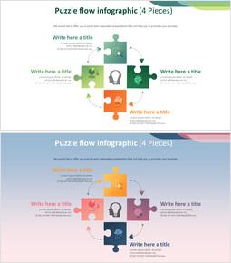 Puzzle flow infographic Diagram (4 Pieces)_2 slides