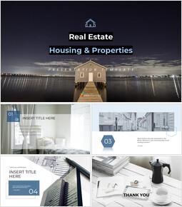 부동산 (주택 및 부동산) 심플한 Google 슬라이드 템플릿_00