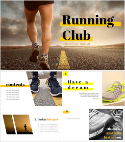 Running Club Easy PPT Template_10 slides