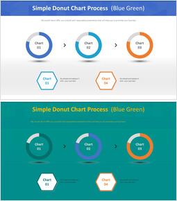 단순 도넛 형 차트 프로세스 (파란색)_00