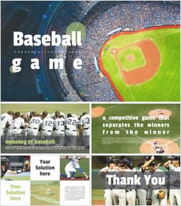 Simple Google Slides Templates - Baseball Game_00
