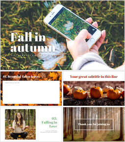Simple Google Slides Templates - Fall in autumn_9 slides