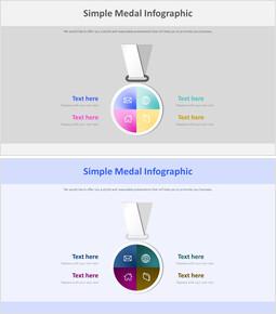 심플 메달 Infographic 다이어그램_2 slides