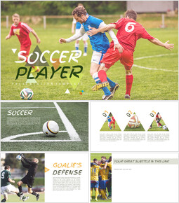 Soccer Player Simple Presentation Google Slides Template_00