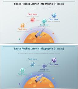 우주 로켓 발사 Infographic 다이어그램 (4 단계)_00