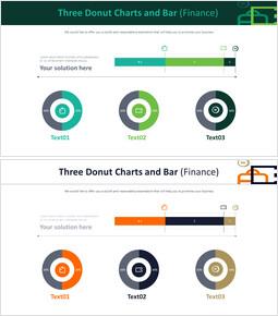 3 개의 도넛 형 차트 및 막대 (금융)_00