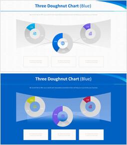 3 개의 도넛 형 차트 (파란색)_00
