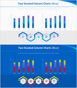 Two Stacked Column Charts (Blue)_00