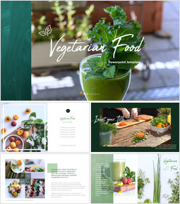 Vegetarian Food PowerPoint Presentation Templates_00