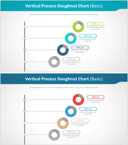 Vertical Process Doughnut Chart (Basic)_4 slides