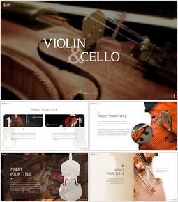 바이올린과 첼로 Google 슬라이드 프레젠테이션 템플릿_00