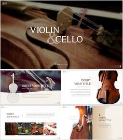 바이올린과 첼로 프레젠테이션 PowerPoint 템플릿 디자인_00
