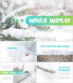 하얀 겨울 심플한 파워포인트 템플릿 디자인_00