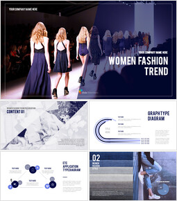 Women Fashion Trend PowerPoint Templates for Presentation_00