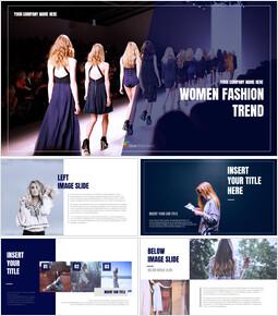 여성 패션 트렌드 심플한 Google 슬라이드 템플릿_00