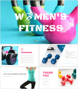 WOMEN\'S FITNESS Simple Google Slides Templates_00