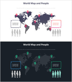 World Map and people Diagram_2 slides