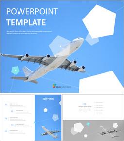 비행기로 세계 여행 - 무료 템플릿 디자인_00