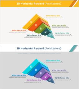 3D 가로 피라미드 다이어그램 (건축)_00