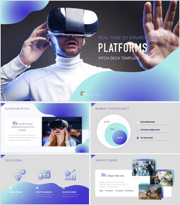 3D Platforms Pitch Deck Simple Keynote Template_00