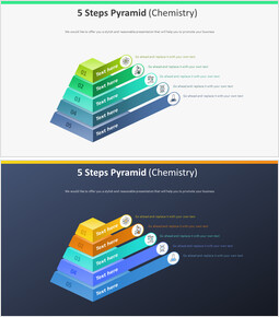 5 단계 피라미드 다이어그램 (화학)_00