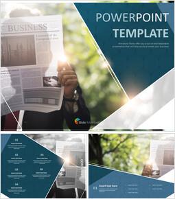 A man Reading Newpaper - Free Design Template_6 slides