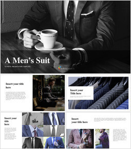 A Men\'s Suit Simple Keynote Template_00