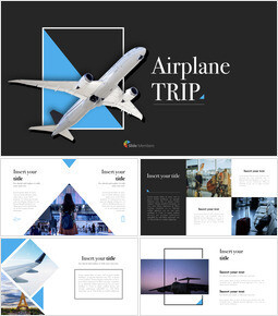 Airplane Trip Simple Keynote Template_67 slides