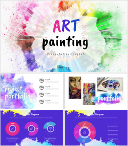 Art Painting Google Slides Template Design_00