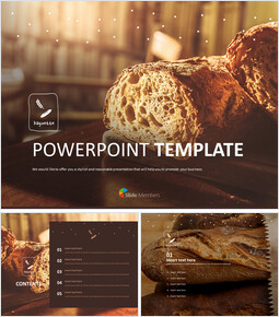 Baguette hot from the Oven - Free Template Design_6 slides