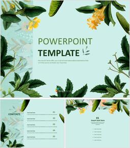 식물 - 무료 PowerPoint 템플릿 디자인_00