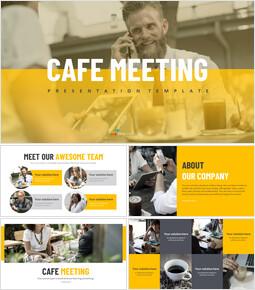 Cafe Meeting Simple Google Slides Templates_00
