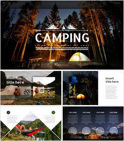 캠핑 프레젠테이션용 Google 슬라이드 테마_00