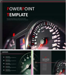 자동차 속도계 - 무료 PowerPoint 템플릿_00