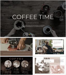 커피 타임 구글슬라이드 템플릿 디자인_00