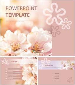 화려한 봄 꽃 - 무료 프리젠테이션 템플릿_00