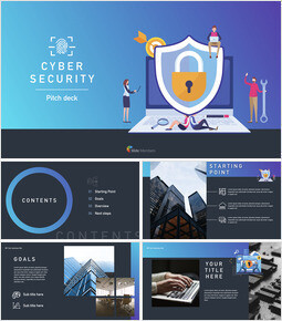 Cyber security pitch deck Keynote Templates_30 slides